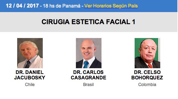 Ciclo de Videoconferencias FILACP: Cirugía Estética Facial 1, 14 de abril, 7:00 pm. (Venezuela)
