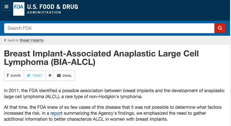 Posición de la FILACP con respecto al comunicado de la FDA en relación al Linfoma Anaplásico de Células Gigantes Asociado a Implantes Mamarios
