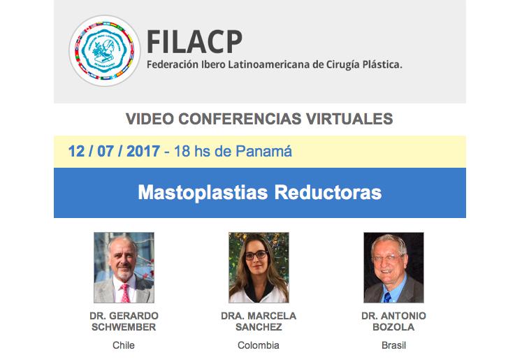 Realizada videoconferencia de la FILACP: Mastoplastias Reductoras, 12 de julio, 7:00 pm.