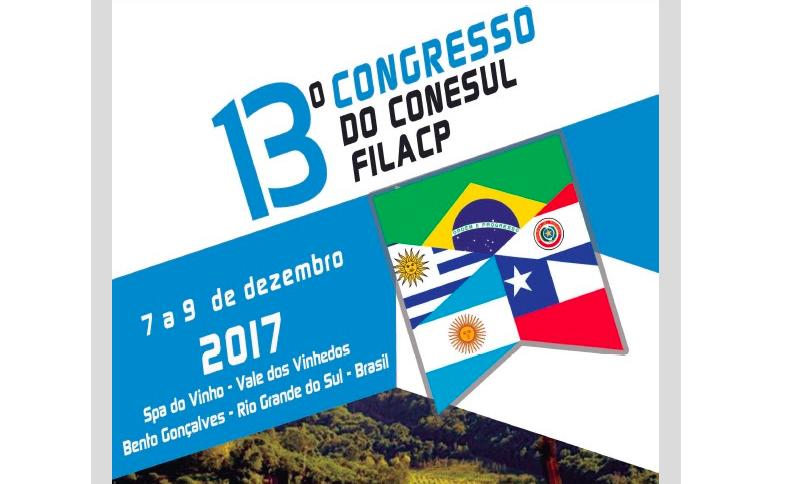13º Congresso do Conesul FILACP, Brasil, 7 al 9 de diciembre 2017