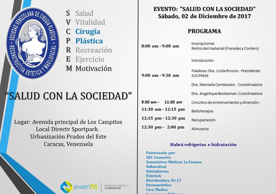 """¡Participa en el evento """"Salud con la Sociedad""""!"""